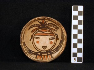 Polychrome bowl with kachina design.