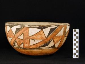Side view: large Zuni bowl.